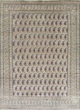 All-Over Paisley Ardakan Oriental Hand-Knotted 9x12 Wool Area Rug Green Carpet