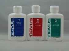 Novus Plastic Polish Kit 1 2 3 2 Oz Cleaner Shine Bottle Professional Pinball