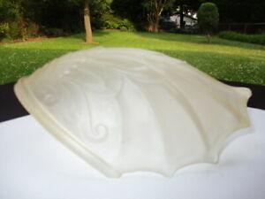 #4 - ART DECO 1910-20 hint  AMBER SATIN GLASS SLIP SHADE SPREAD WING BIRD ANGEL