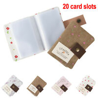 Women Canvas Pocket 20 Card ID Credit Card Holder Case Purse Business JH