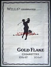 1924 Wills's 'GOLD FLAKE' Cigarettes Golf Golfer ADVERT - Small Tobacco Print Ad