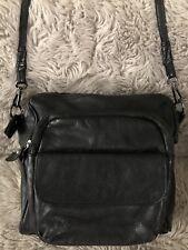 DANIER Women's LEATHER CROSSBODY TRAVEL Shoulder Bag Silver Hardware