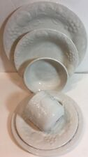 Gibson Designs Flourish 6 Pc. Place Setting Service For 1 (Embossed)