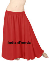 Chiffon 2 Layer Gypsy Skirts Full Circle Belly Dance Tribal Flamenco Double JUPE