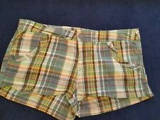 rue 21 Green Plaid Casual Shorts Size 11 / 12