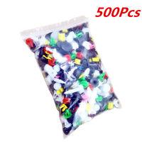 Plastic 500Pcs 38Sizes Car Automotive Push Pin Rivet Body Trim Clip Panel