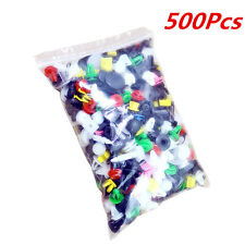 Plastic 500Pcs 38Sizes Car Automotive Push Pin Rivet Body Trim Clip Panel