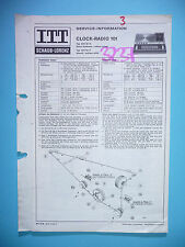Service manual manual for ITT/Schaub-Lorenz Clock Radio 101 ,ORIGINAL