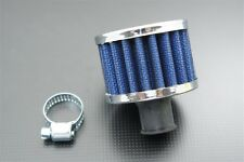 """12mm 1/2"""" Mini Air Intake Crankcase Breather Filter Valve Cover Catch Tank Blue"""