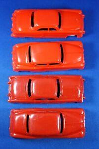 Plasticville - O-O27 - #V-6 - Original vintage Red Autos - Excellent+++++