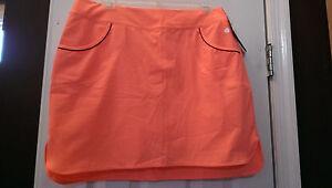 NWT Ladies EP Pro Sport Neon Orange Golf Skort Skirt sizes 10 & 12 Empire State