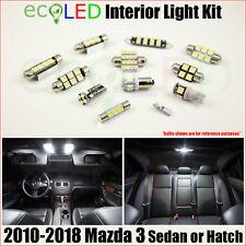 Fits 2010-2018 Mazda 3 Sedan & Hatchback WHITE LED Interior Light Kit 7 Bulbs