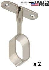 Oval Closet Rod Center Supports Bracket Set of 2