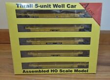 A-LINE HO SCALE #47301-07 5 UNIT WELL CAR,THRALL CONTAINER TTX CAR #62072
