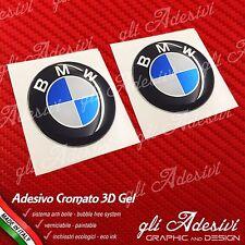 2 Adesivi Resinati Sticker 3D BMW10 mm Auto Moto CROMATO