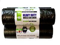 Eco Bag 240 Litre Wheelie Bin Liners - Black - 10 Pack