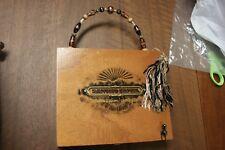 Sancho Panza Dulcinea wooden Cigar Box Purse