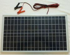 30w Solar Panel for 20w price 12v Charger /w 4m cable BLOCK Diode & Battery Clip