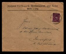 Germany 1922 Inflation Cover / 2 Mark Posthorn Single Franking - Z14062