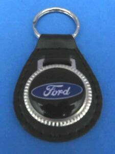 FORD AUTO TRUCK LEATHER KEYCHAIN KEY CHAIN RING FOB #020