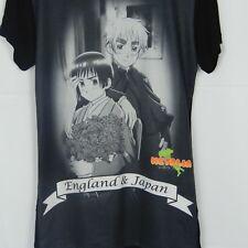 Hetalia World Series Graphic T-Shirt XS England And Japan Anime Made in USA 2010