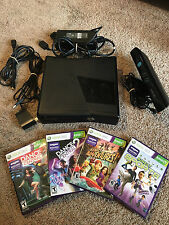 Microsoft Xbox 360 Slim 4gb with Kinect and 4 Kinect Games
