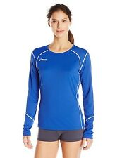 ASICS Women's Volleycross Long Sleeve Jersey, Royal/Steel Grey