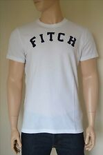 NEW Abercrombie & Fitch Classic Logo Applique Graphic Tee T-Shirt XL