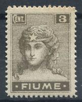 Fiume 1919 Sass. 33 Nuovo ** 100% 3 cent.,  Allegorie e Vedute