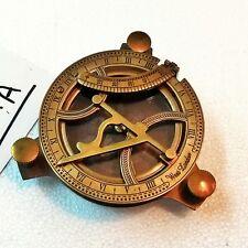 "Antique Brass Sundial Compass 4"" Marine Collectible Decorative Item"