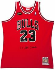 MICHAEL JORDAN Autographed Bulls '6x NBA Champ' Authentic M&N Jersey UDA LE 123