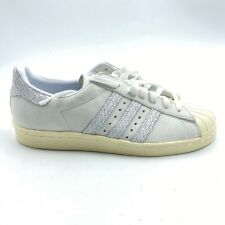 Adidas Originals Womens Superstar 80s W Shoes White Snakeskin BY9075 7 New
