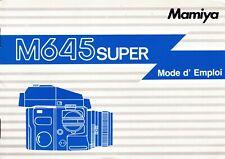 Mamiya 645 Super Mode d'emploi (Français, French), top condition (18311)