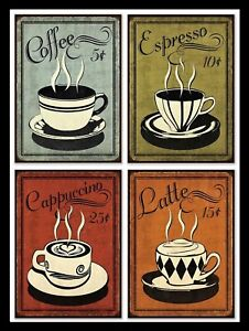 Coffee, Retro metal Sign/Plaque Wall vintage / Cafe Gift