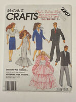 "McCalls 2207 Doll Clothes Vtg 1985 Cut Complete Sewing Pattern 11 1/2"" Wardrobe"