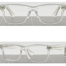 Thick Square Acetate Frames Light Clear Plastic Prescription Glasses Transparent