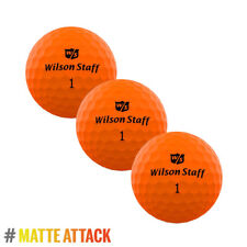 Wilson Staff DX2 OPTIX 2018 Low Compression Soft Matte ORANGE 3x Ball Sleeve