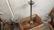 Antique Coppertone Japan Finish 2 Arm Gas Chandelier & Shades