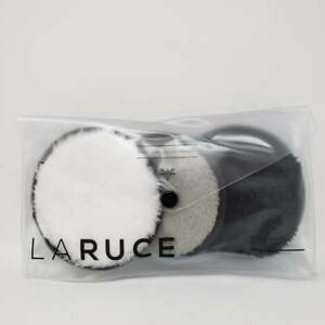 LARUCE Face Disks Reusable Makeup Remover Pads (Set of 3) NEW Black, White, Gray