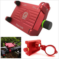 Red CNC Full Aluminum Alloy Motorcycle ATVs Handlebar Mount Phone Holder Bracket