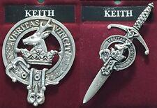 Keith Scottish Clan Crest Pewter Badge or Kilt Pin