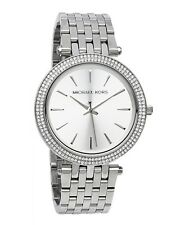 New Michael Kors Darci Silver Stainless Steel MK3190 Women Glitz Bezel Watch