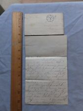 1879 Letter from Sister to Brother . Nice Cincinnati postmark, stamp missing