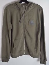 2015 NWT YOUTH BOYS RVCA LIKE HELL FULL ZIP UP HOODIE M $45 DUSTY OLIVE skull