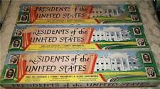 1950's SET OF 3 COMPLETE SERIES PRESIDENTS OF THE UNITED STATES ~LOUIS MARX TOYS