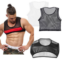 Gym Men's Muscle Sleeveless Mesh Tank Top Tee Shirt Bodybuilding Fitness Vest
