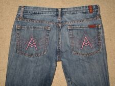 """7 For All Mankind Size 29 Measure Short """"A"""" Pocket Flare Womens Jeans L 28.5"""