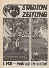 BL 91/92 1. FC Nürnberg - Eintracht Frankfurt (Stadionzeitung)