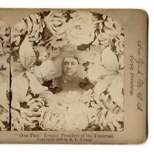 Stereoview Oom Paul Kruger President of Transvaal South Africa 1900 R.Y. Young