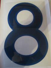 Big no 8 England Home Football Shirt Name Set Rear Number Blue Sporting ID